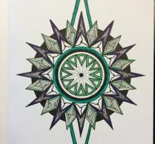 Эскиз татуировки Мандала (49)