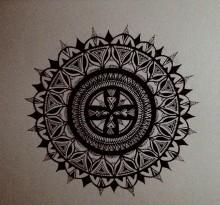 Эскиз татуировки Мандала (52)