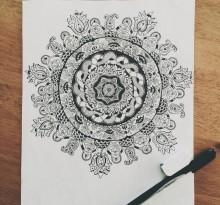 Эскиз татуировки Мандала (58)