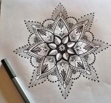 Эскиз татуировки Мандала (59)