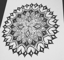 Эскиз татуировки Мандала (60)