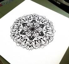 Эскиз татуировки Мандала (61)