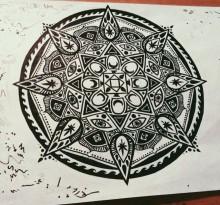 Эскиз татуировки Мандала (72)