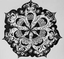 Эскиз татуировки Мандала (73)