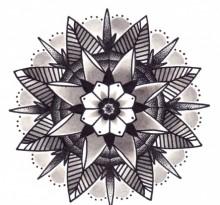 Эскиз татуировки Мандала (75)