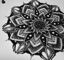 Эскиз татуировки Мандала (76)