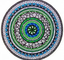 Эскиз татуировки Мандала (78)