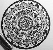 Эскиз татуировки Мандала (8)