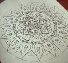 Эскиз татуировки Мандала (80)
