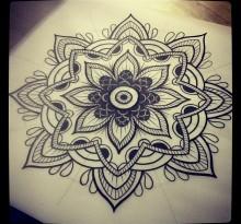 Эскиз татуировки Мандала (85)