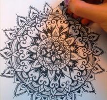 Эскиз татуировки Мандала (87)
