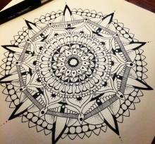 Эскиз татуировки Мандала (9)