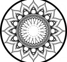 Эскиз татуировки Мандала (96)