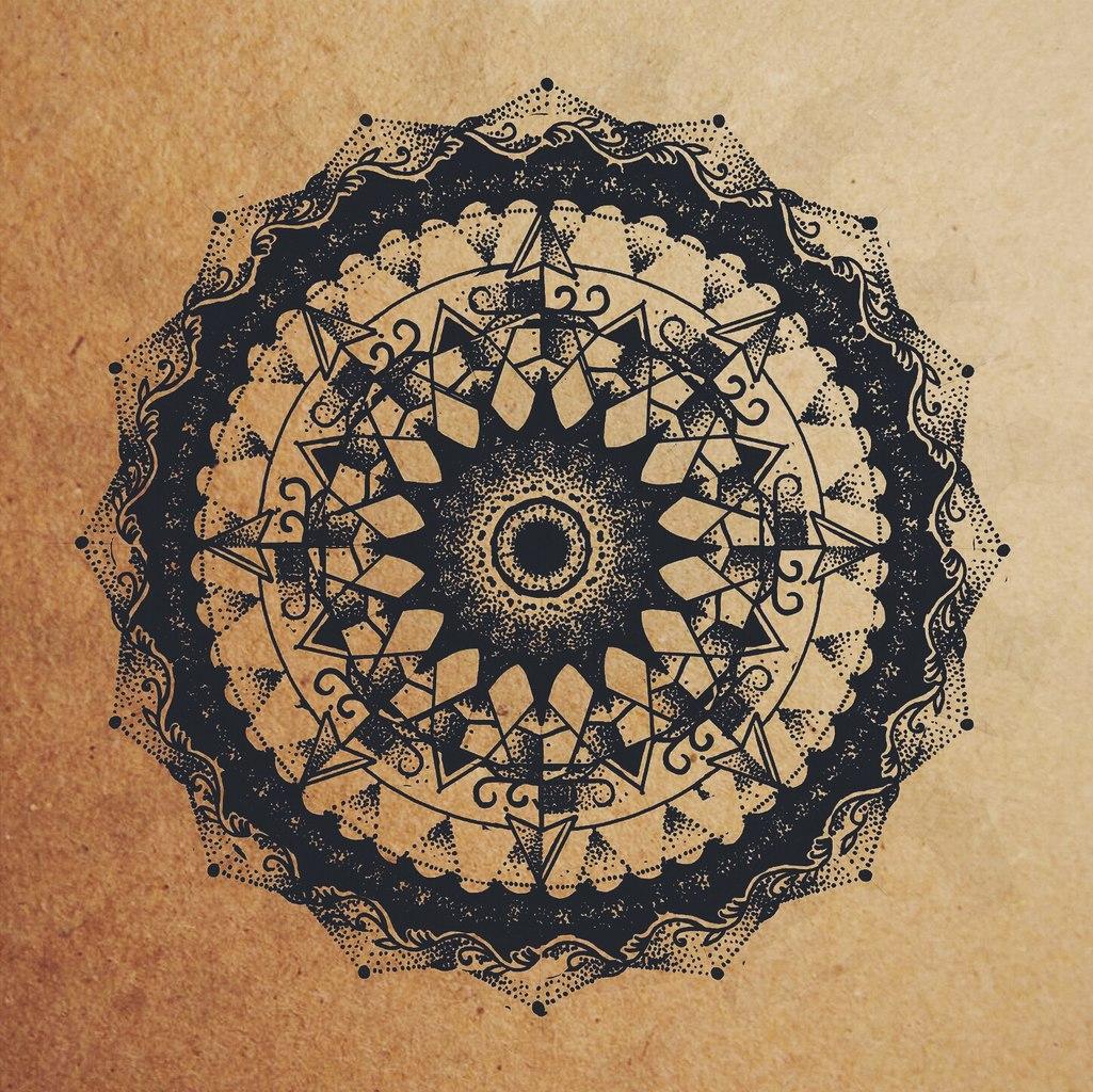 Эскиз татуировки Мандала (101)