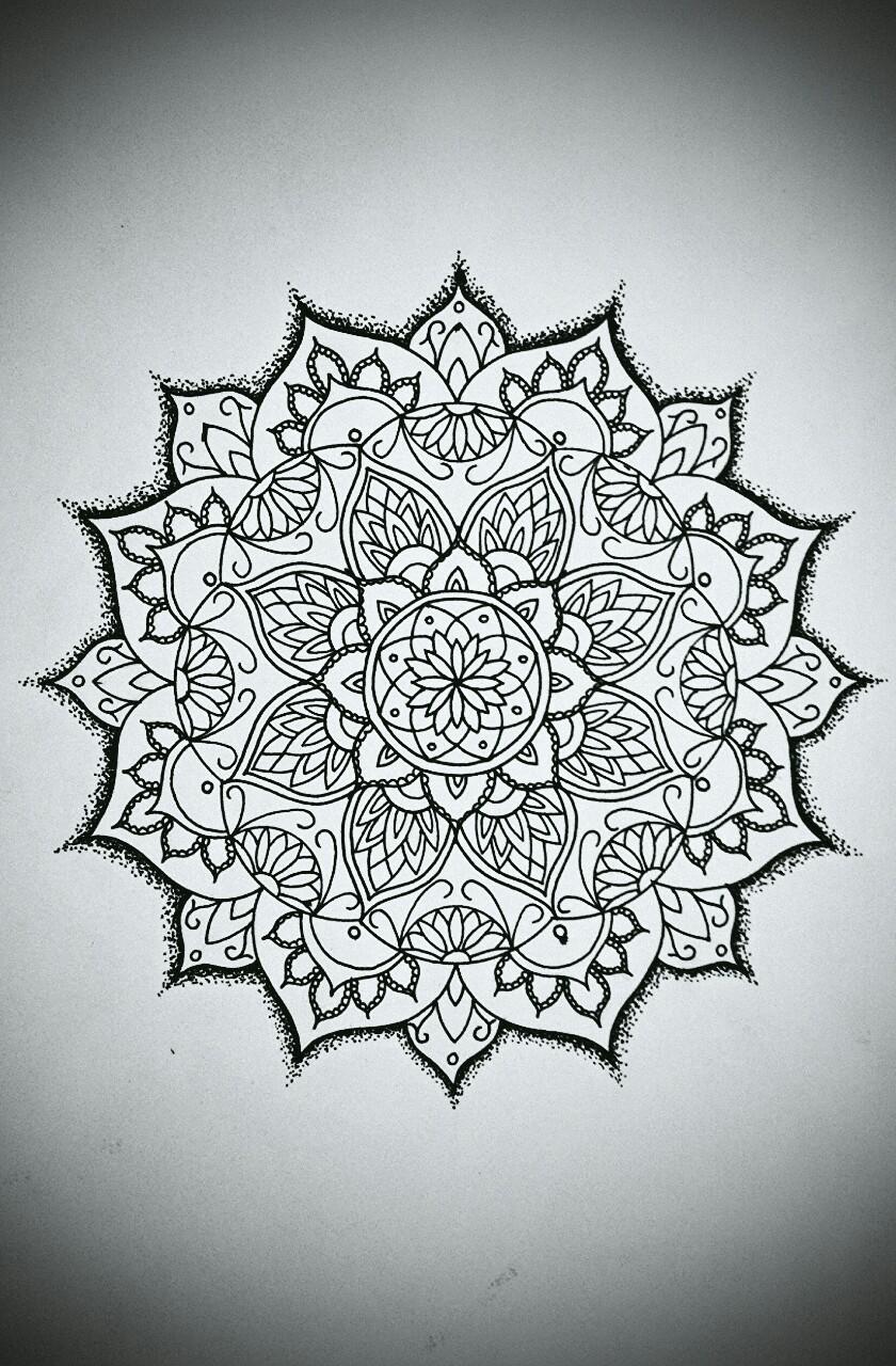 Эскиз татуировки Мандала (106)