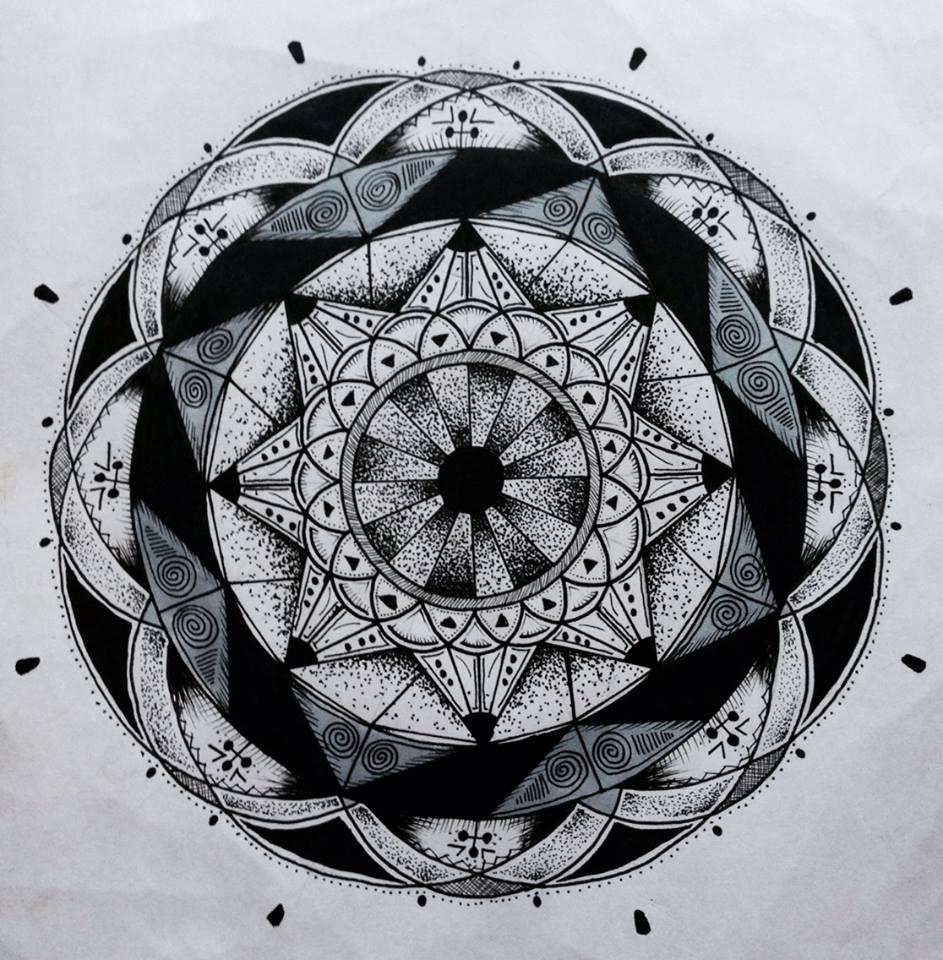 Эскиз татуировки Мандала (107)