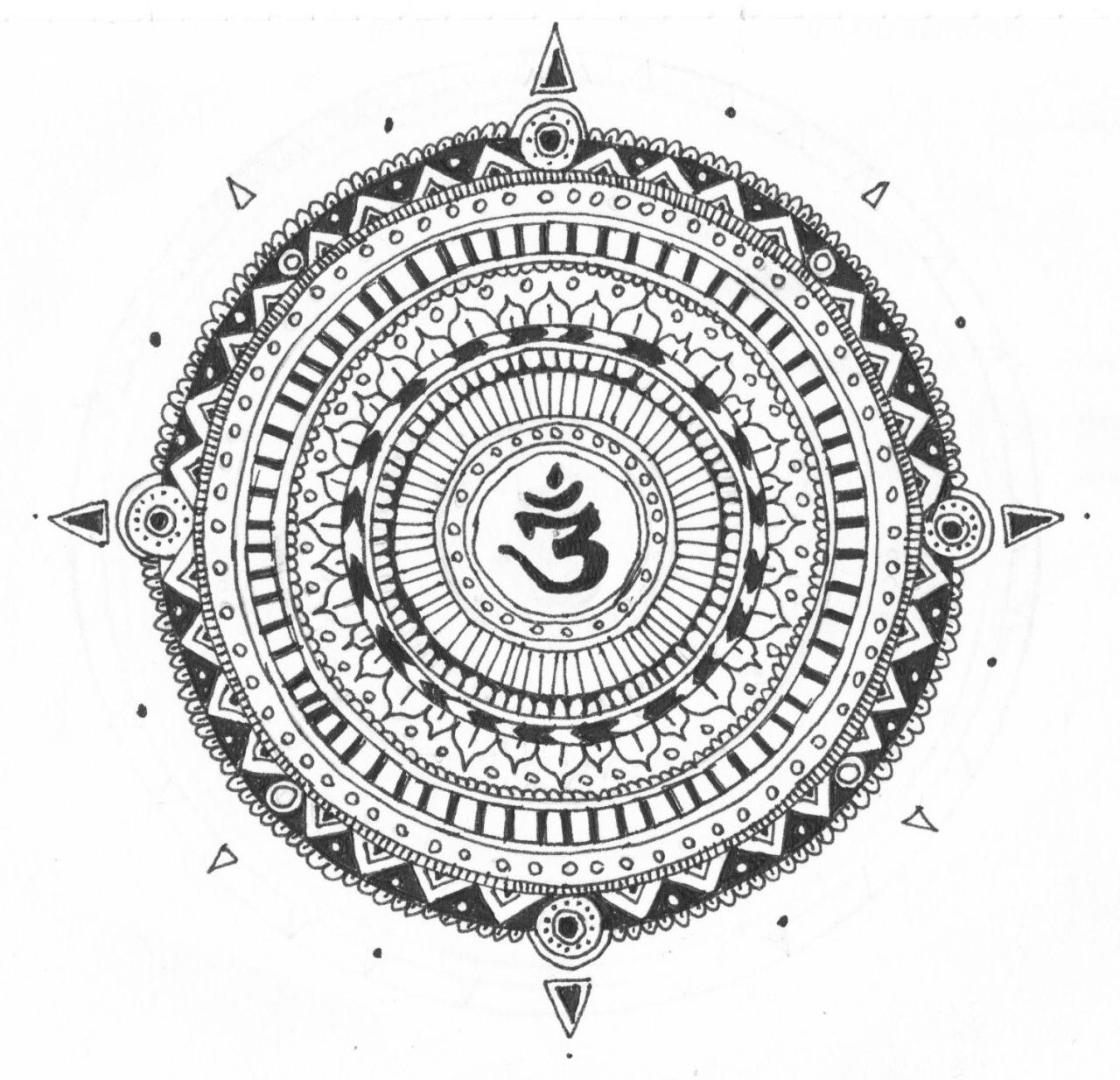 Эскиз татуировки Мандала (114)
