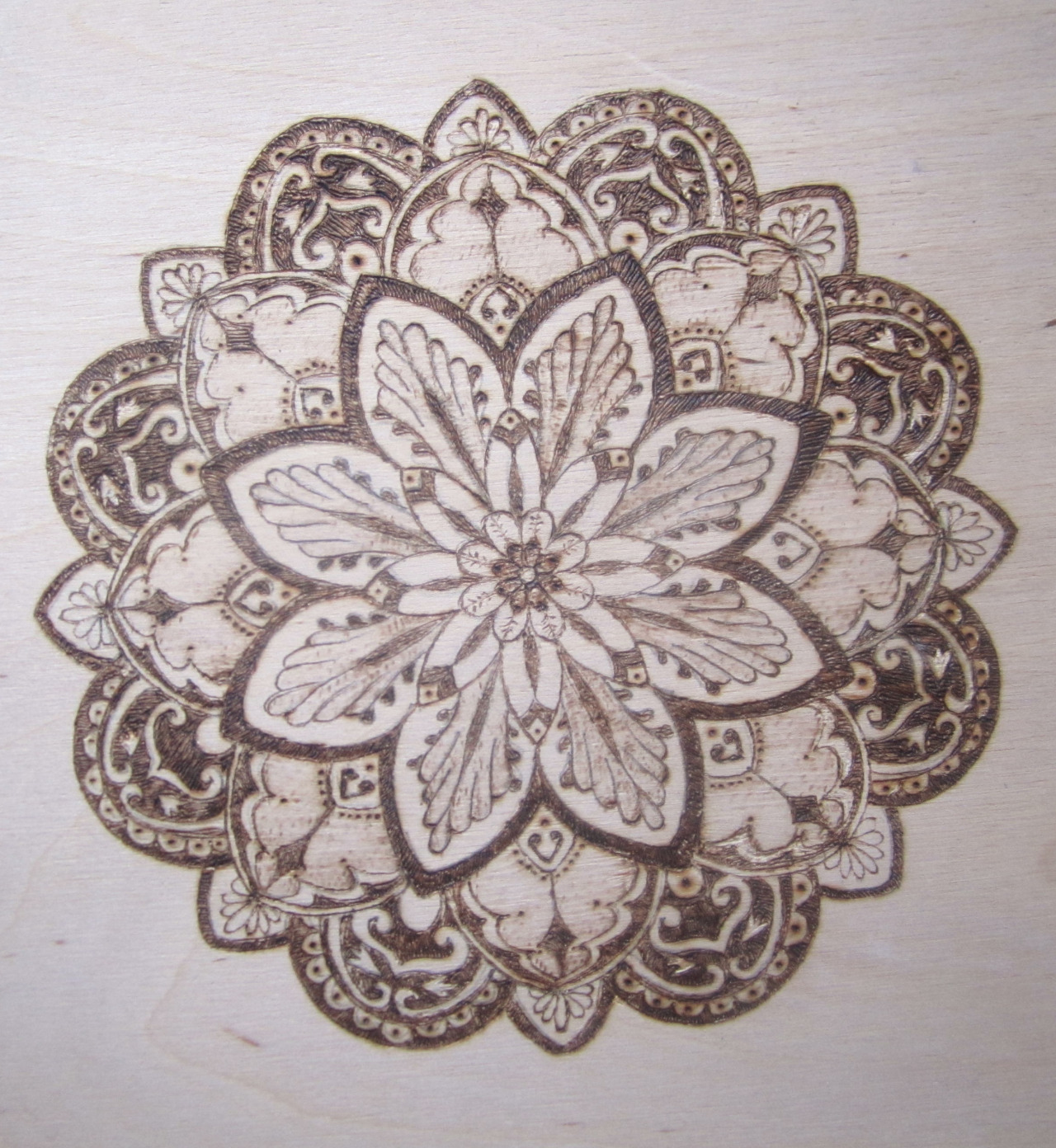 Эскиз татуировки Мандала (13)