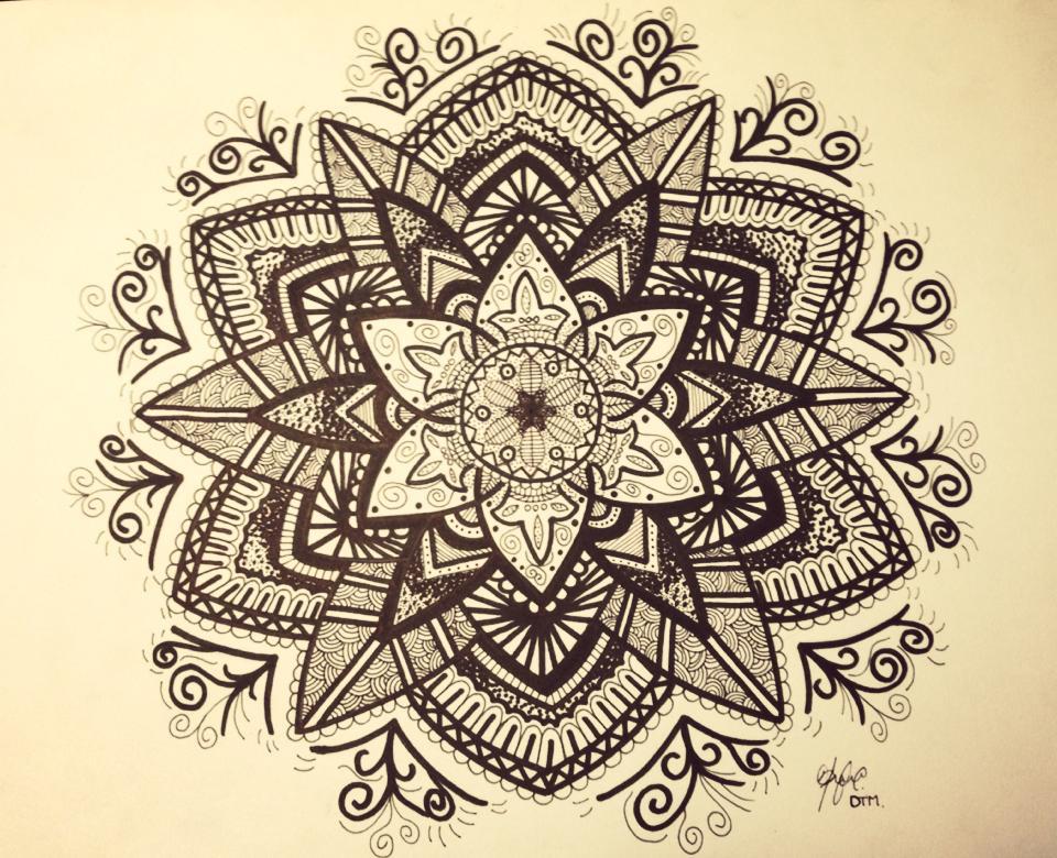 Эскиз татуировки Мандала (139)