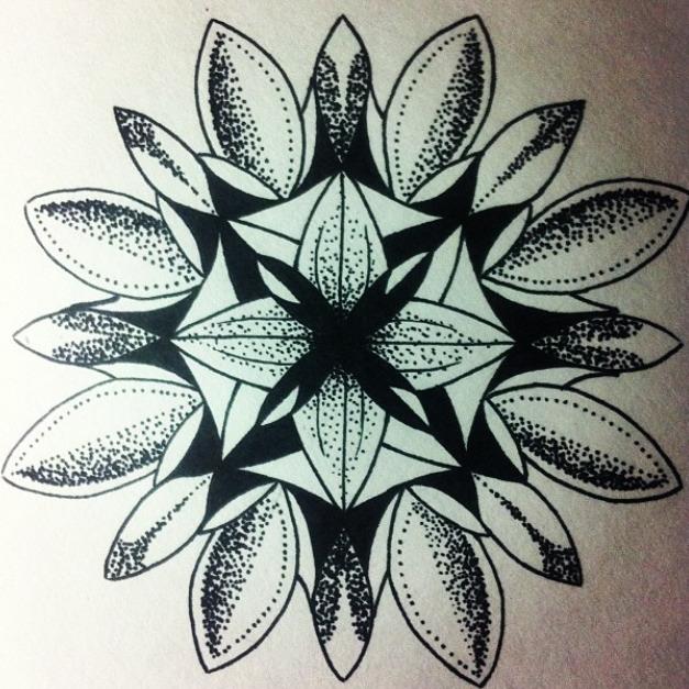 Эскиз татуировки Мандала (142)