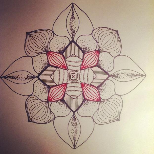 Эскиз татуировки Мандала (145)
