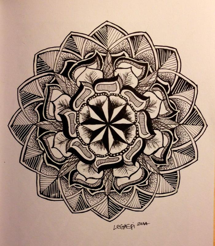 Эскиз татуировки Мандала (29)
