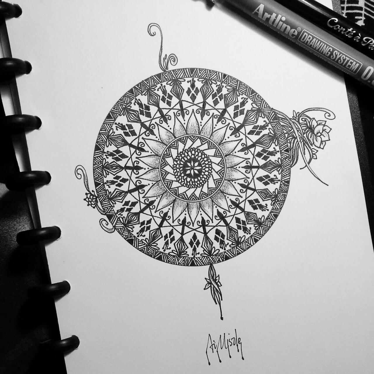 Эскиз татуировки Мандала (30)