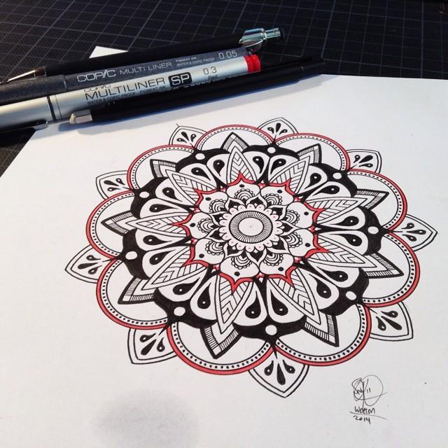 Эскиз татуировки Мандала (48)