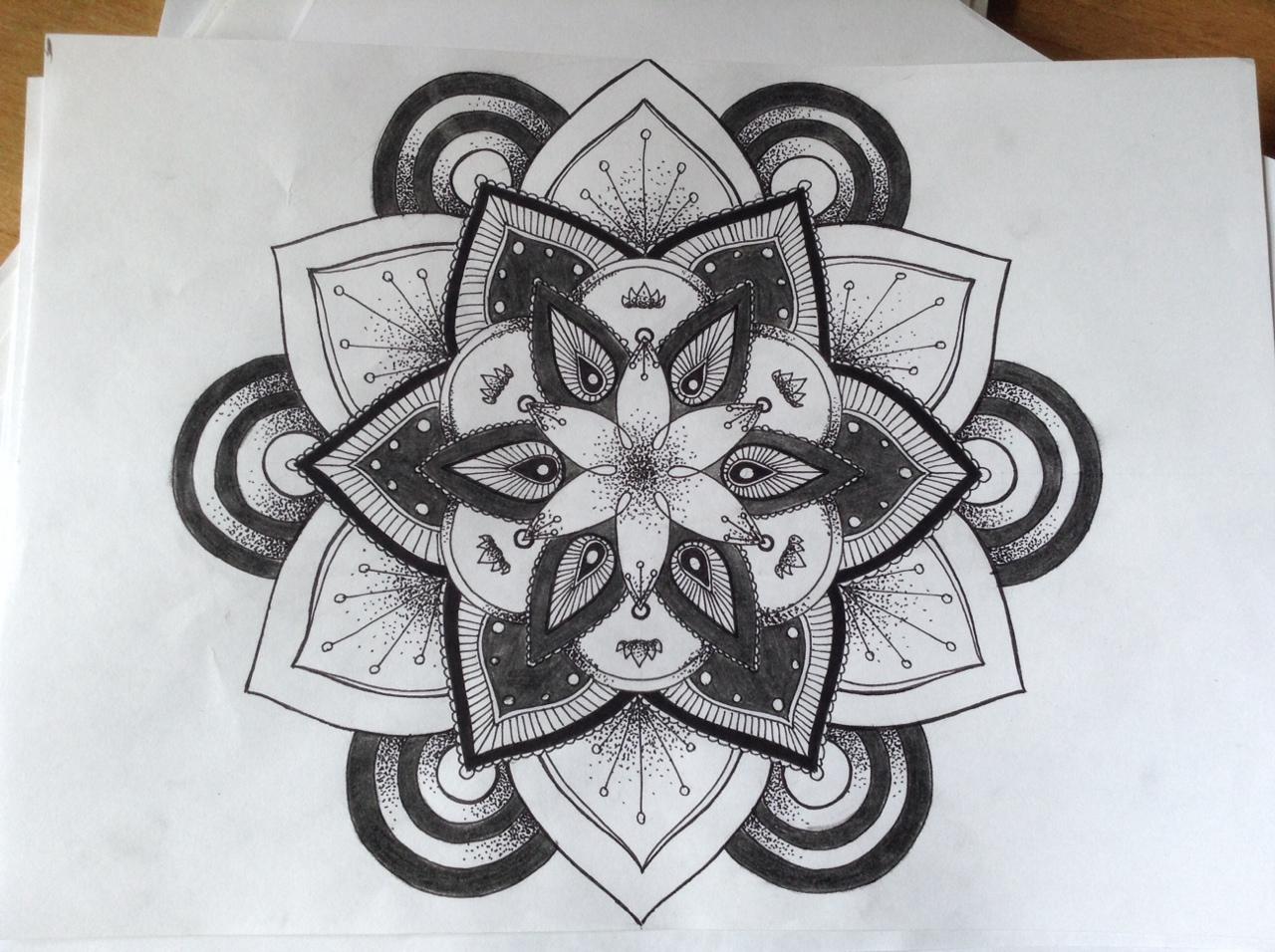 Эскиз татуировки Мандала (67)