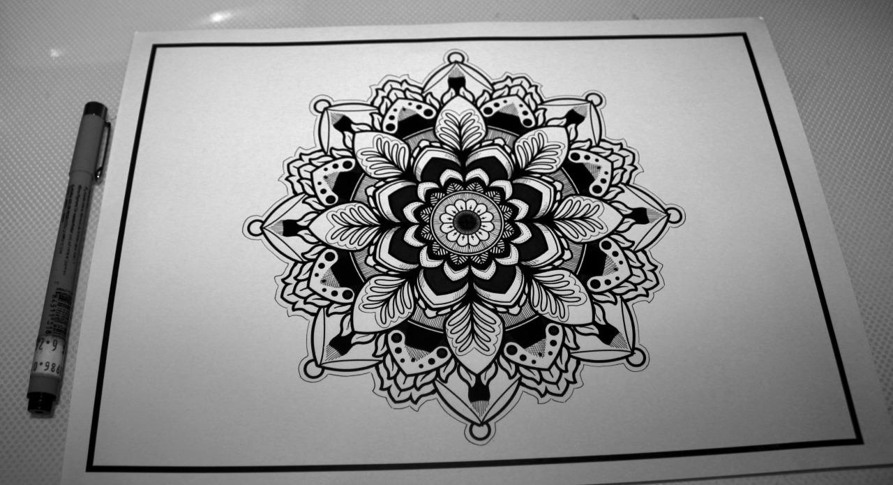 Эскиз татуировки Мандала (68)