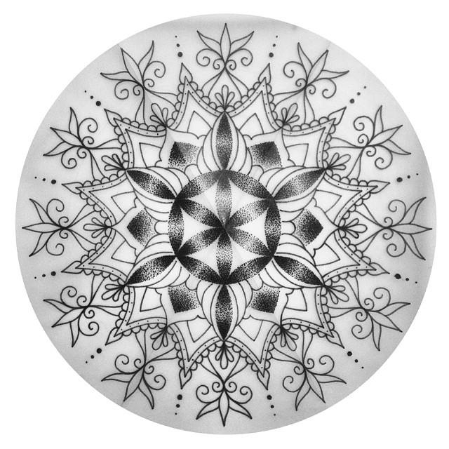 Эскиз татуировки Мандала (70)