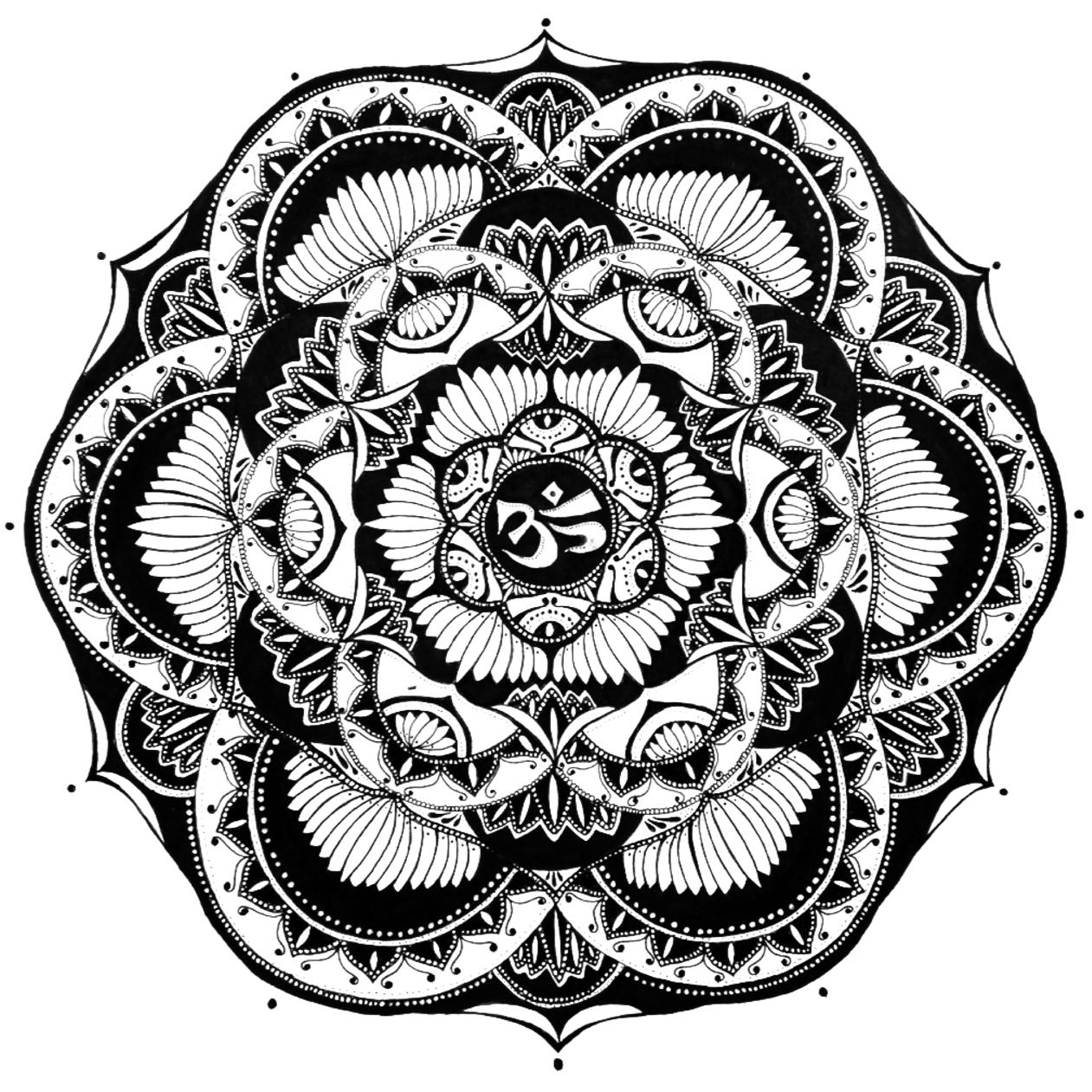 Эскиз татуировки Мандала (77)