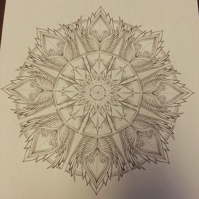 Эскиз татуировки Мандала (83)