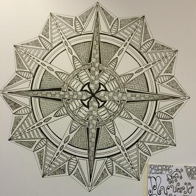Эскиз татуировки Мандала (86)