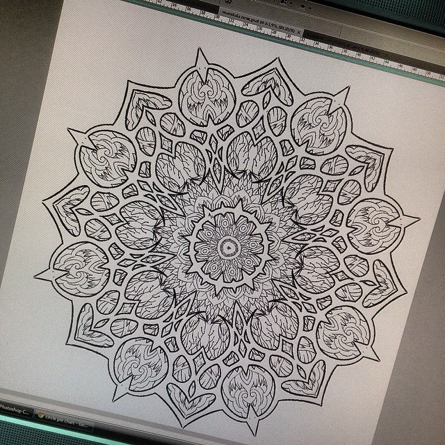 Эскиз татуировки Мандала (89)