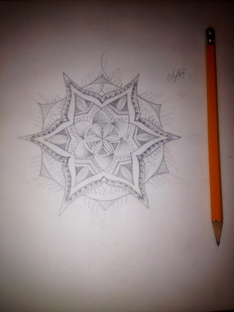 Эскиз татуировки Мандала (93)