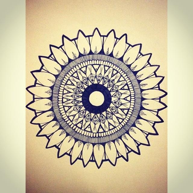 Эскиз татуировки Мандала (98)