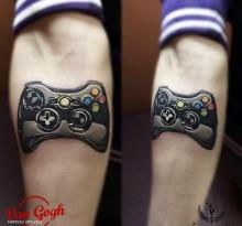 Татуировка геймпада
