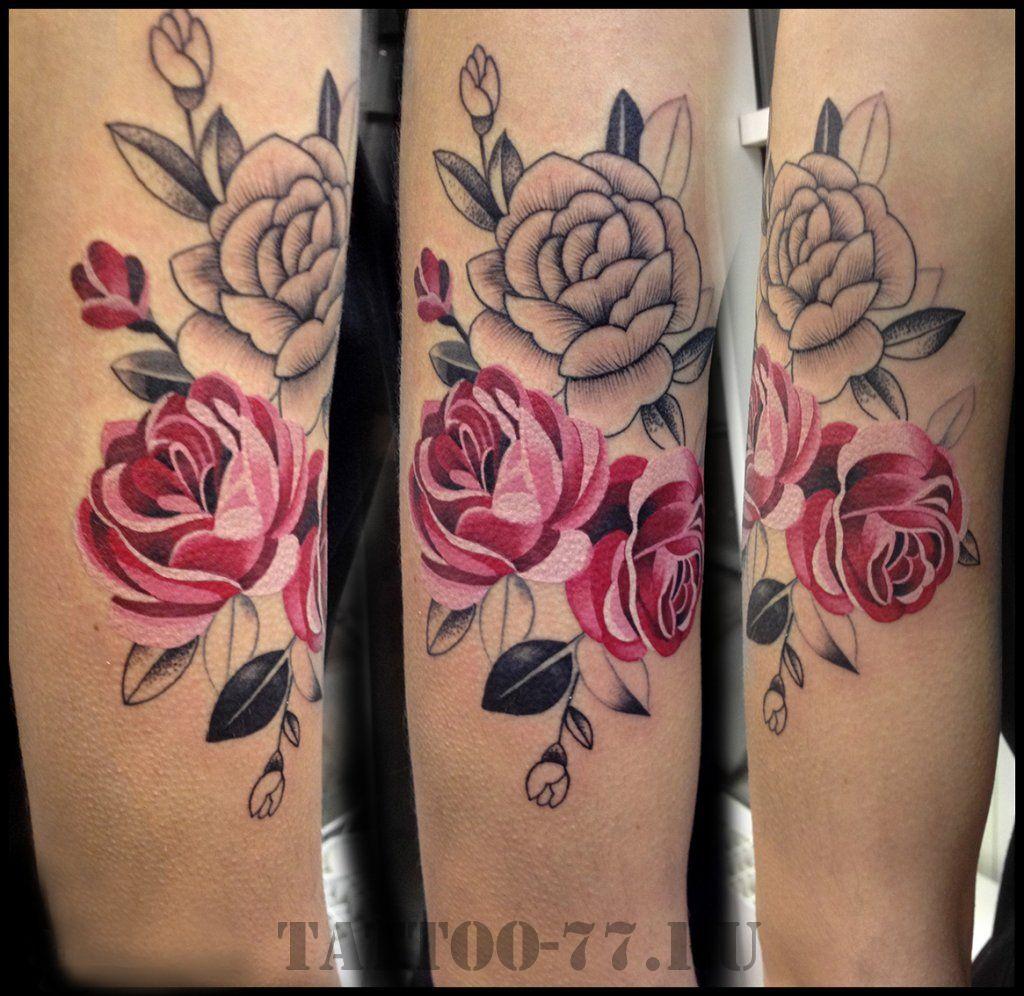 Тату роз 663 лучших фото татуировок 2018 года - KissMyTattoo 99