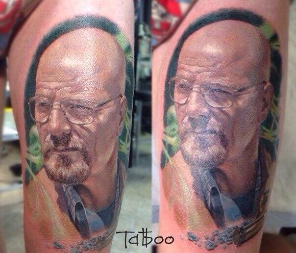 Реалистичная татуировка Уолтера Уайта (Во все тяжкие)