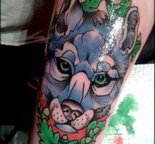 Синяя голова волка