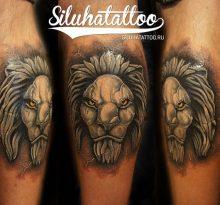 Татуировка каменный лев