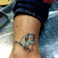 Маленькая забавная тату на ноге
