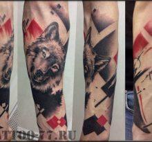 Волк в стиле треш-полка