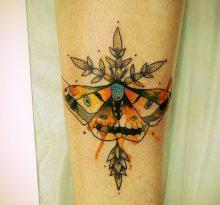 Бабочка в стиле акварель