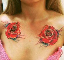 Две розы на груди