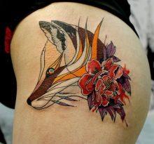 Две татуировки в стиле акварель