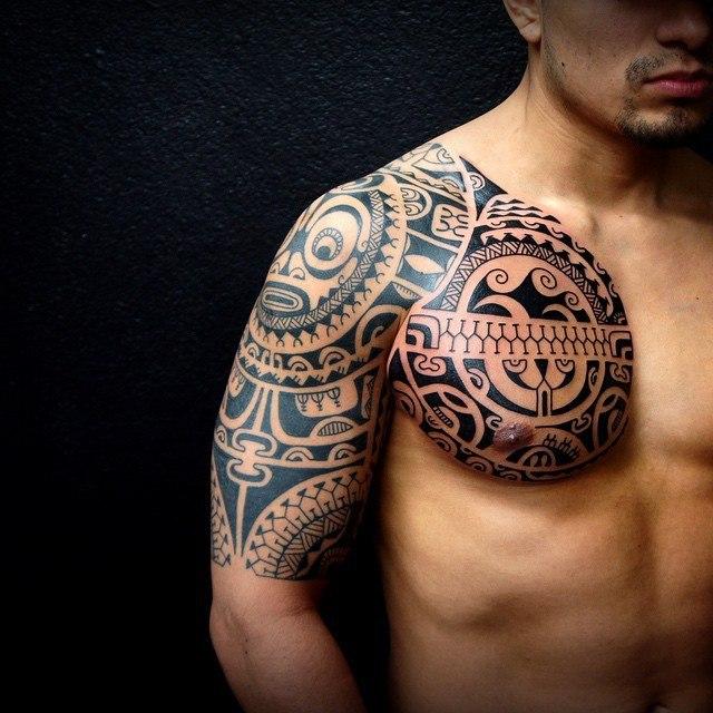 Тату на предплечье мужские  примеры готовых татуировок