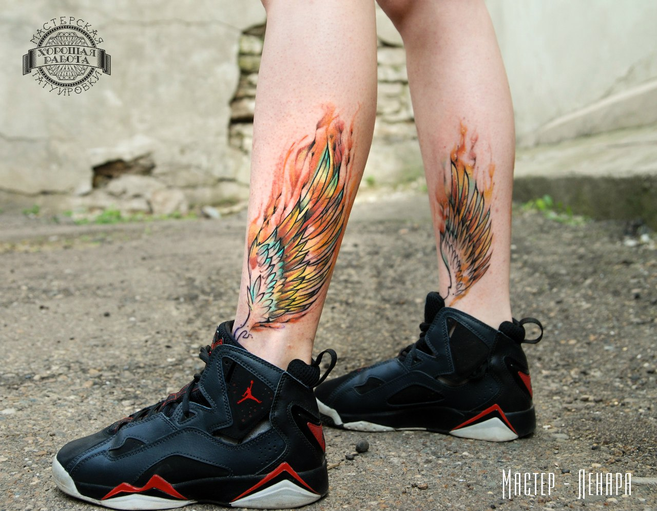 пан тату на ноге мужские фото эскизы цветные удивляет что она
