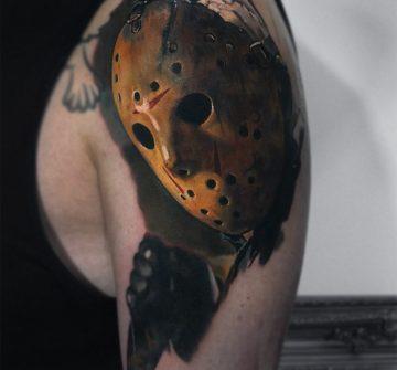 Реалистичный портрет Джейсона Вурхиза в маске